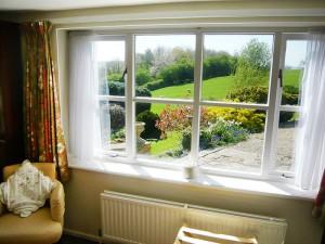 View from Garden apartment bedroom window