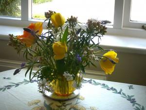 Garden apartment flowers