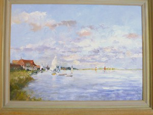 Wind on the lake painting