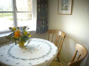 Garden apartment dining table
