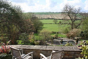 View across Chater Valley from Manton Lodge Self Catering in Rutland