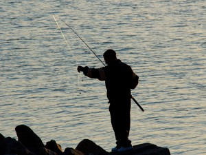Fly fishing at Rutland Water