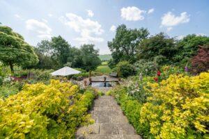 Garden path to ornamental pond